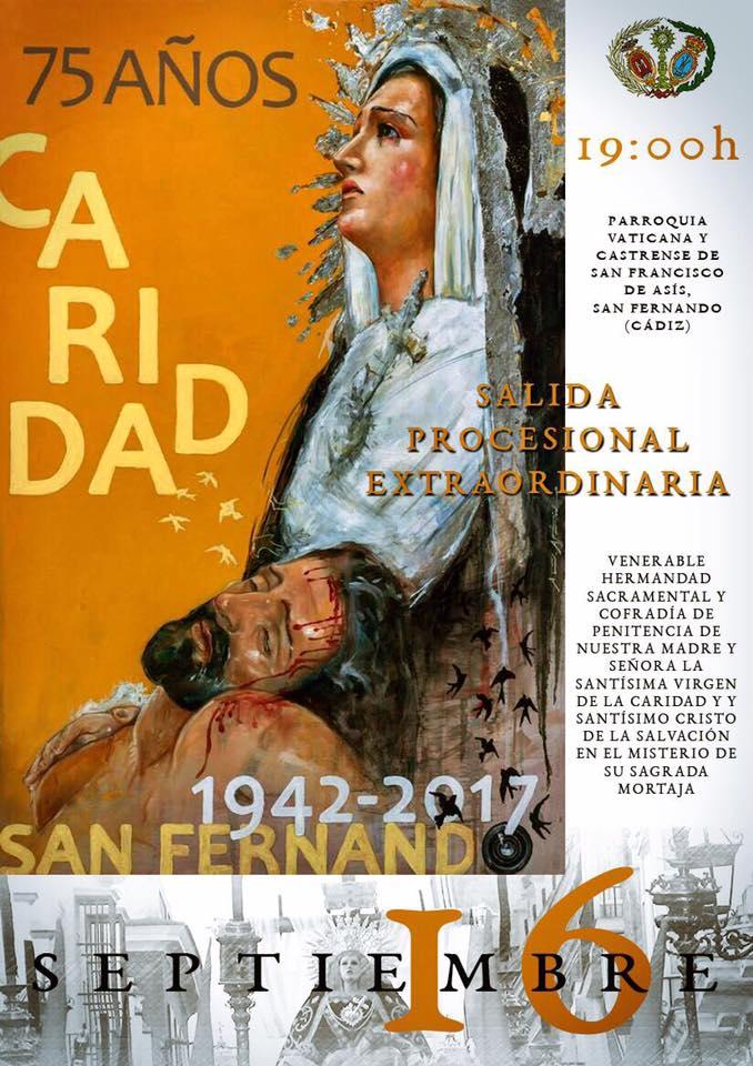 Resultado de imagen de Hermandad Caridad - 75 aniversario - San Fernando
